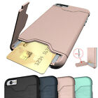 Card Slot Kickstand Shockproof Hybrid Silicone Case Cover For iPhone 6 6S 7 Plus