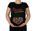 New Maternity 10-20 Cotton Valentine Hearts Print Top Tunic Funny T-Shirt Gift
