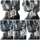 Indian Fashion Jewelry crystal studded beautiful Earrings set in Multi Colors