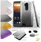 ZTE Phone Hybrid Bling Glitter Rubber Silicone Protective TPU Hard Case Cover