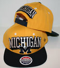 Michigan Wolverines Gold Blockbuster Snapback Hat by Zephyr