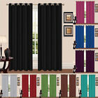 Thermal Curtains Eyelet Fully Lined Luxury Tie Back Ready Made Pair Ring Top