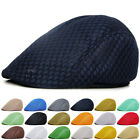 Unisex Summer Peaked Beret Flax Cap Country Outdoors Golf Hat Driver Cabbie AU