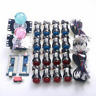 Arcade DIY Kits Bundle LED Push Buttons & Arcade LED Joystick & Encoder To MAME