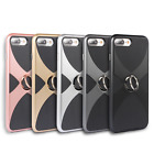 Shockproof Hybrid Rubber TPU Case Cover with Finger Ring Holder for iPhone 6S 7