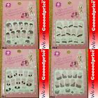 3D Lace Style White Black Design Jewelry Nail Art Stickers Party Gift Set 5-0508
