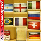 Style Funny Stickers Argentina Brazil England France Germany Italy Russia Swiss