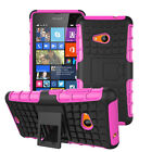 Fully Protection Hard Shell Bumper Stand Cover For Microsoft Lumia 535 + Screen