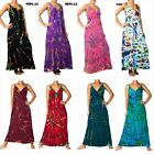 ANGELA NEW Tie Dye Women Long Maxi Dress Boho Hippie Summer Size M - XXXL Plus