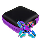 PU Leather Fidget Hand Spinner Finger Toy Focus ADHD Autism Box Headset Bag