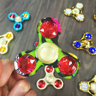 Electroplating alloy diamonds Hand Spinner ADHD tri Fidgets Toy For kids anxiety