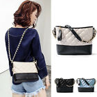 Quilted Real Leather Small Single Shoulder Bag Crossbody Bag Hobo Chain Purse