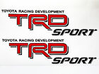 Toyota TRD Truck sport Racing Tacoma Tundra Vinyl Sticker Decal Pair Decals