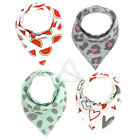 4PCS/Pack Baby Bibs Kid Head Scarf Towel Boy Girl Dribble Feeding Saliva Bandana