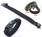 Durable 5-in-1 Multi-function Paracord Bracelet Parachute Cord w Whistle Compass