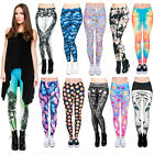 New Ladies Women Printed Leggings Stretchy Trousers Emoji Pants Color Size M-L
