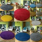 Large Round Circular Circle Plain Modern Colours Thick Shaggy Rugs Mats Cheap