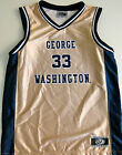 GEORGE WASHINGTON COLONIALS YOUTH BASKETBALL JERSEY NCAA #33 NEW! YOUTH S, M, L