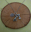 Woofa Walks Dog Necklace Silver Plated,  Various Breeds,