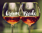 1 x Custom Wedding Wine Glass Decal Sticker Bridal Party Personalised Gift