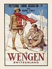 SKI SKIING WINTER SNOW WENGEN SWITZERLAND METAL SIGN PLAQUE OTHERS LISTED 386