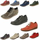 Ladies Clarks Casual Lace Up Leather Shoes Funny Dream