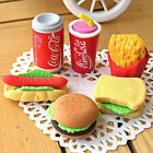3pcs Special Food Sandwich Hamburger Shaped Rubber Erasers Kids Stationery Set $1.0  on eBay