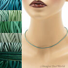1.5 mm Teal Leather Cord Necklace or Choker Custom Length ur colors Handmade USA