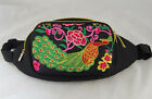 Ethnic Bag Fanny Pack Waist Festival Zip Pouch Belt Wallet Embroidery Peacock