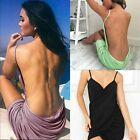 Women Ladies Halter Short Mini Beach Dress Summer Backless Casual Party Dresses