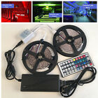 10M 5050 RGB LED Strip with 44keys IR Remote Controller +12V 5A Power Adapter LW
