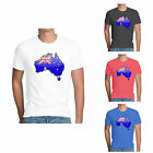 Custom Mens T-shir AU map Handle It Personalised Printed Tee Print