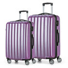Travel Luggage 4 Wheels Cabin ABS Hard Shell Trolley Suitcase Purple 20 24inch
