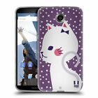 HEAD CASE DESIGNS CATS AND DOTS SOFT GEL CASE FOR MOTOROLA PHONES