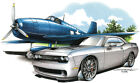 Dodge Challenger SRT Muscle Car Hot Rod T-shirt Youth and adult sizes