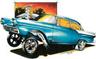 '57 Ford Fairlane Gasser Drag Race Hot Rod T-shirt Small to 5XL