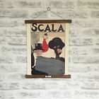 Scala Opera Advertisement 1901 Print with Oak Hanger