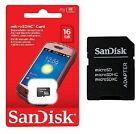 SanDisk micro SD HC 8GB 16GB 32GB Class 4 Cell Phone Memory Card Wholesale Lot