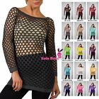Summer Hot Fishnet Long Sleeve Shirt Dancing Blouse Top Beach Suite