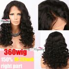 360 Curly Wigs Brazilian Virgin Remy Glueless Human Hair Lace Wigs Pre Plucked
