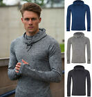 AWDis Just Cool Mens Performance Cool Cowl Neck Top Hoodie - Stretch Fabric