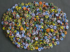 Refashioned Glass Beads Discs African Bright Cheery Spacers 10 mm Multi 40/60-Pk