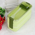 Portable 900ml Portable 3 Layer Bento Oven Lunch Box Microwave Food Storage US