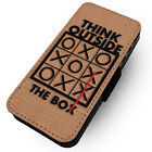 Outside The Box - Printed Faux Leather Flip Phone Cover Case - Motivational #1