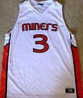 UTEP MINERS MEN'S NCAA BASKETBALL JERSEY #3 NEW XL EXTRA LARGE