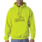 ST Louis Cardinals - Safety Green Outlined Hoodie