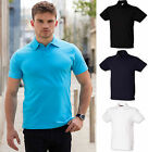 Mens Stretch Fit Short Sleeved Slim Fit Premium Quality Polo Shirt