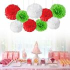 "Mixed 8"" 10"" Paper Pom Pom Flower Ball Garland Wedding Party Hanging Decoration"