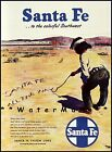 Santa Fe 1950 All The Way Southwest Vintage Poster Print Railroad Train Travel