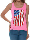USA Flag Tank Tops for Women Women's American Flag Distressed 4th of July